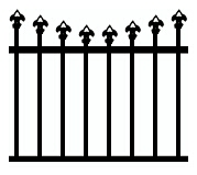 Arched Speartop tubular fencing design