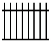 Round Picket Tubular Fencing Design